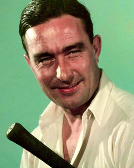 Sport, Cricket, pic: 1949, Denis Compton, the Middlesex and England cricketer and also a successful