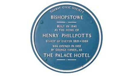 The Blue Plaque honouringBishopHenry Phillpotts and his house Bishopstowe