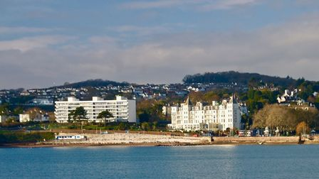 The view across the bay of the Grand Hotel looking splendid