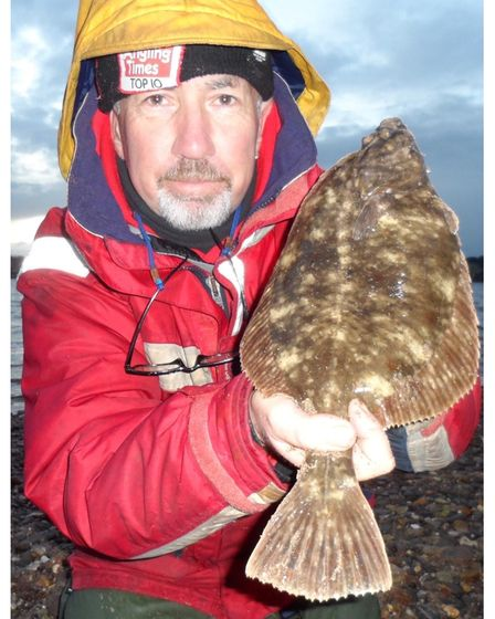 Andy Browning with a 2lbs 2oz flounder