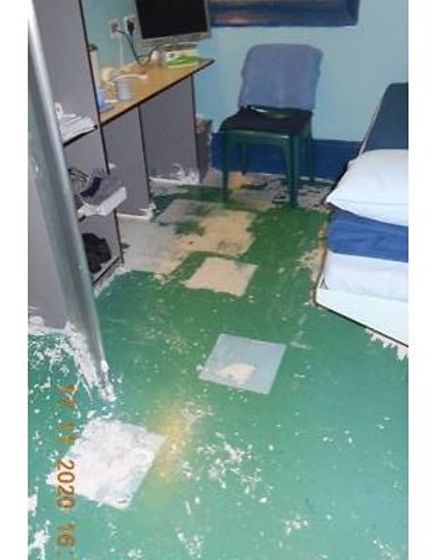 Typical cell inside the privately run prison at Peterborough. The photo was released by HM Inspector of Prisons