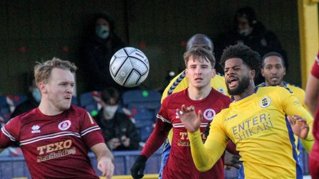 Kyran Wiltshire in action for St Albans City FC