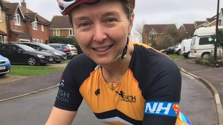 Portishead and Clevedon Triathlon Club show support for NHS