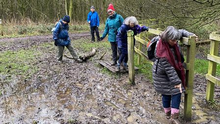 Members of the Crouch End U3A group on their socially-distanced charity walk.