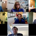 A screengrab of an online chat with Prince William and members of Homerton Hospital staff.