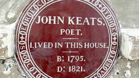 John Keats lived in John Street, which is now called Keats Grove, in Hampstead