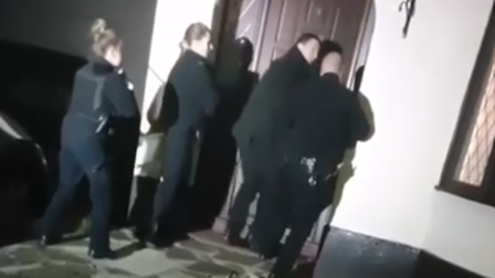 Police arrested a woman at the Goodmayes address yesterday