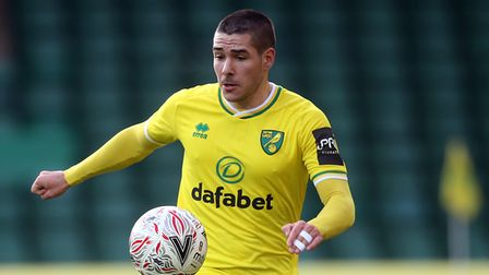 Emiliano Buendia of Norwich in action during the FA Cup match at Carrow Road, NorwichPicture by Pau