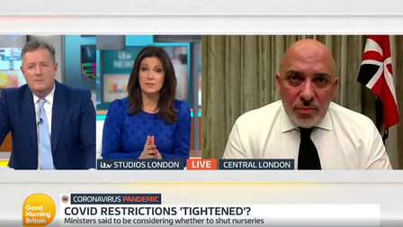 Nadhim Zahawi answers questions on Good Morning Britain