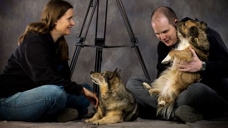Sally and Kevin Marchant with dogs