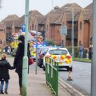 Police fire engine in WGC