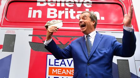 File photo dated 20/09/18 of Nigel Farage, the Vice-Chairman of Leave Means Leave, by the political