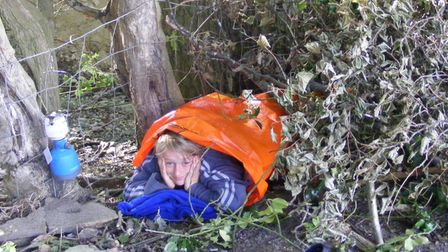 Joe berry wild camping when he was younger