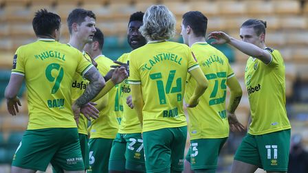 Kenny McLean of Norwich celebrates scoring his sideÕs 1st goal during the FA Cup match at Carrow Roa