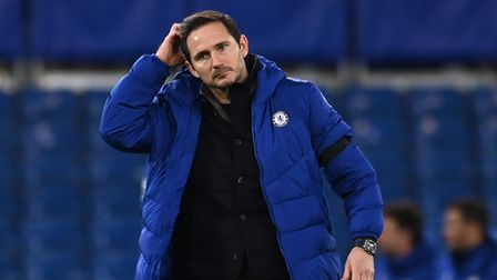 Chelsea manager Frank Lampard reacts after the final whistle during the Premier League match at Stam
