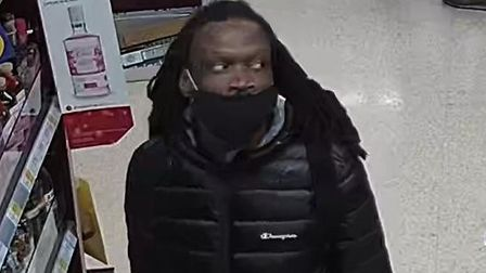 Police have issued a CCTV still of a man sought following a brutal attack in a supermarket in Barkingside.