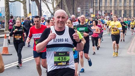 Ilford AC captain Billy Green at the London Landmarks Half Marathon (pic: Ilford AC)