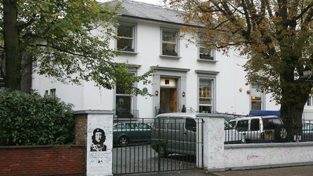 Geberal view of the Abbey Road Studios in London, made famous by the Beatles.