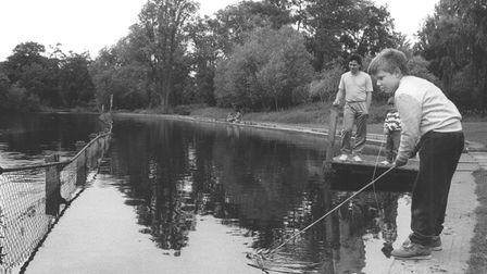 Fishing along the River Wensum in Norwich