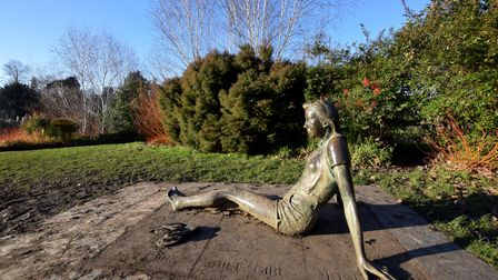 Patricia Finch's 1991 statue Golders Hill Girl in Golders Hill Park.
