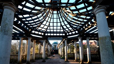 The astonishing dome of the pergola at Golders Hill Park.