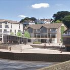 A graphic of how the Brunswick Wharf development in Bideford could appear
