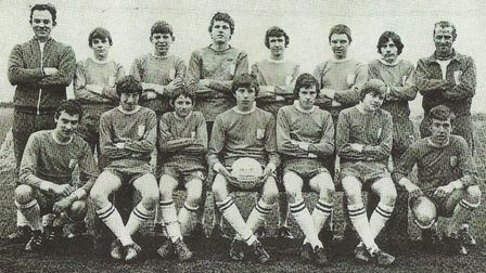 Torre Trojans FC - back row, from left: D Penford, manager; L. Burnett; D Critchlow; S Fleet; A Cooper; C Scott; S Aggett and L. Pope, trainer. Front row, from left: A Pougiouros; C Penford; K. Birch; C Lee; S Pope, captain; S Crabtree and M Tremblett