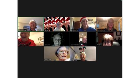 Picture of Inner Wheel group over Zoom