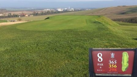A view down the eighth hole at Royston Golf Club