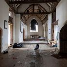 Essex, UK. 5th January 2021. Inside the 500 year old All Saints Church in East Horndon, Essex, which