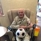 102 year old Mr Bill Wilkinson from Sidmouth was one of the first to receive the vaccine