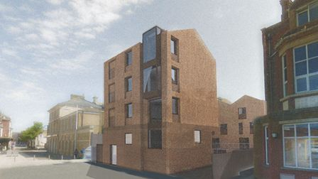 CGI of the proposed new flats