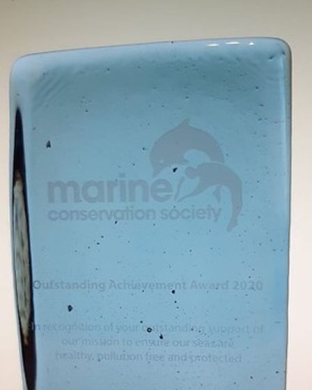 The Marine Conservation Society Outstanding Achievement Award 2020