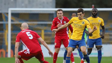 Mitchell Weiss in action for St Albans City FC