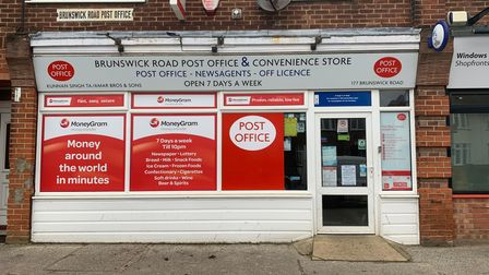 Brunswick Road Post Office in Ipswich