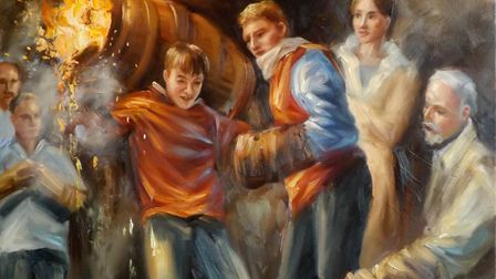 Colin's paintings capture the drama of the Barrel Rollers
