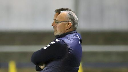 St Albans City manager Ian Allinson on the touchline.