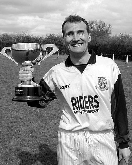 Scorer Dave Crossman of Riders Intersport with the Intermediate Cup.