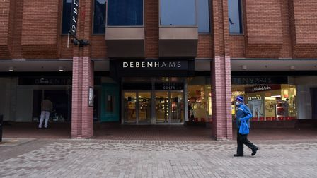 Debenhams on Westgate Street in Ipswich