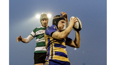 Action from Clevedon's victorious Bristol Combination Vase win