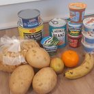 A food hamper for one child in central Romford.