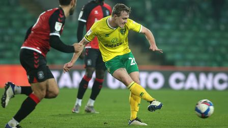 Oliver Skipp of Norwich in action during the Sky Bet Championship match at Carrow Road, Norwich Pic