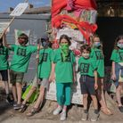 Around 30 young activists attended a sponsored walk in July to help save the Happy Man Tree. Picture