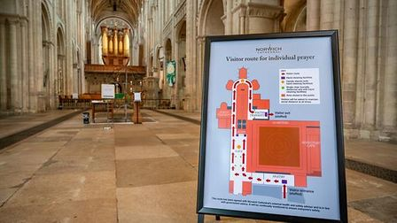 In line with Government Covid guidance, Norwich Cathedral will remain open daily for individual prayer.