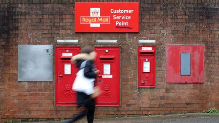 The Royal Mail sorting office in Ashford, Kent, during England's third national lockdown to curb the