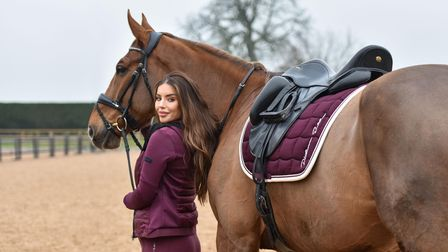 Nerrnina Pieters-Mekic has carried on riding her horses during her pregnancy but an accident on Boxi