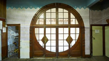The grand art deco entrance doorway of Paignton Picture House