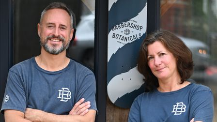 Marcus and Lisa are the owners at West Meon's Barbershop Botanicals