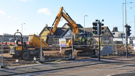 Groundworks are under way as part of a scheme to develop a new McDonald's drive-through outlet on Mill Road in Lowestoft.