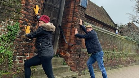 Pilates in St Albans members also took to the streets of the city as part of a walking quiz.